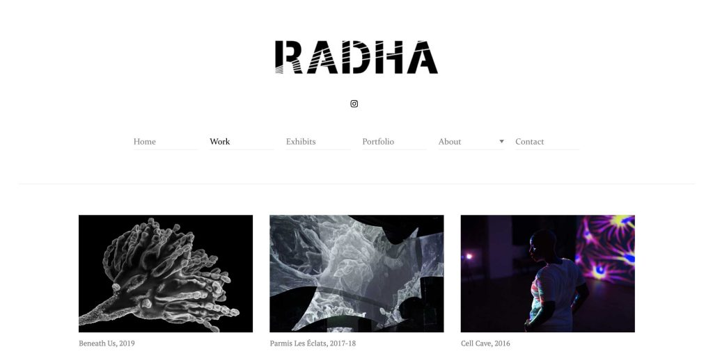 radha diseño web fotografos
