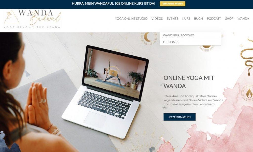 paginas web para yoga